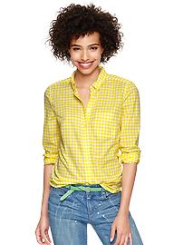 Shrunken boyfriend gingham shirt - yellow gingham