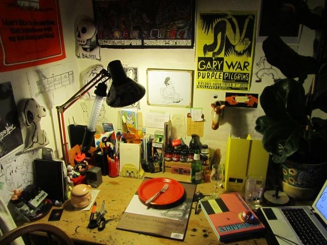 David's workspace