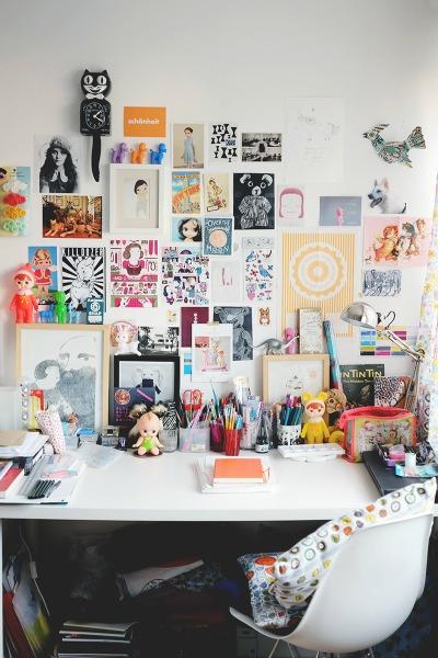 Hannah Rowlands' desk