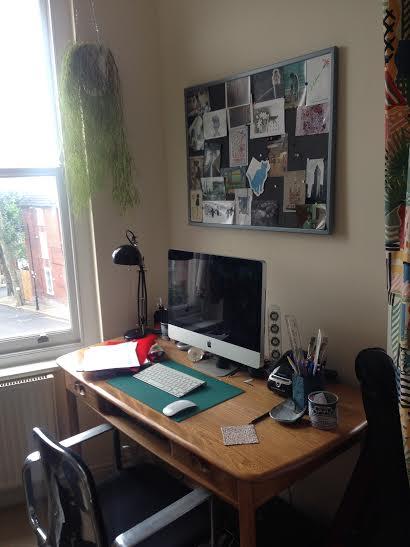Lizzy Huthwaite's desk