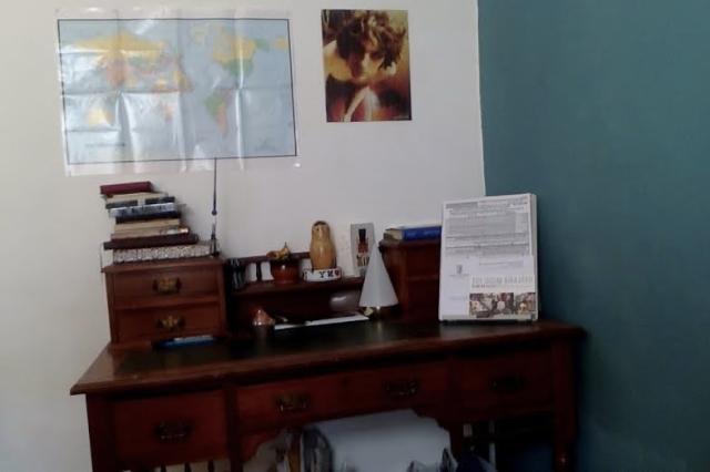 Alan Bissett's desk