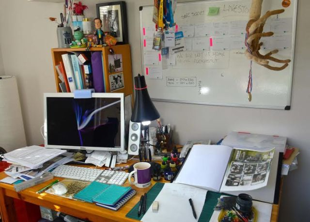 Hannah Berry's desk